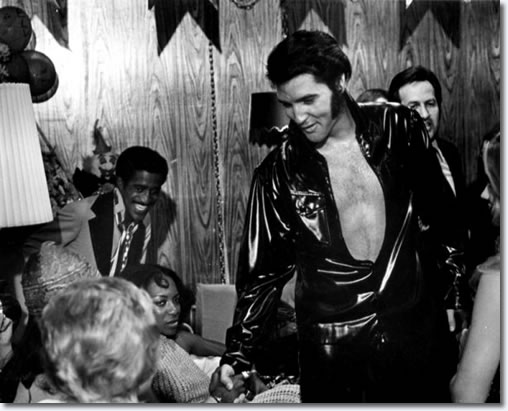 Elvis Presley and Sammy Davis Jr, Las Vegas Hilton, 1970.