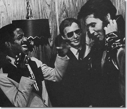 Elvis Presley and Sammy Davis Jr, Las Vegas Hilton, 1970.