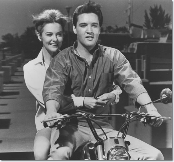 Shelley Fabares and Elvis Presley.
