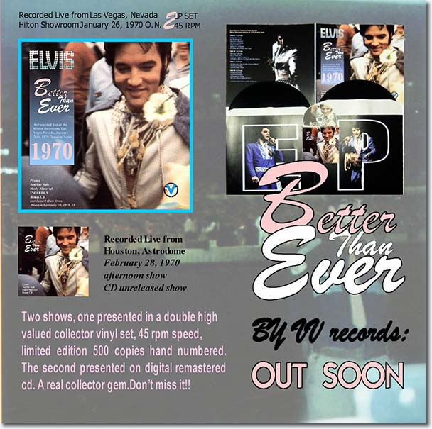 Elvis Presley : Better Than Ever : 1 x CD Digipack and 2 x LP Records