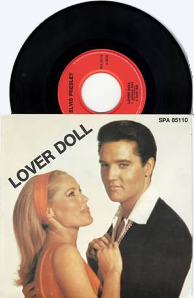 Elvis Lover Doll EP 45 rpm made in Austria [SPA 85110]. Side A: Jailhouse Rock (first version), Lover Doll : Side B: Jailhouse Rock (second version), Treat Me Nice. Brand new, recent warehouse find.