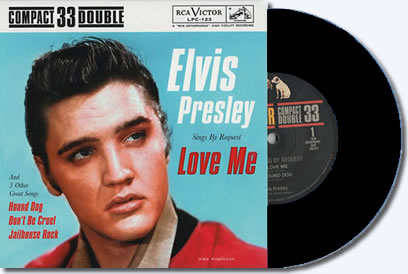 Elvis Presley Sings By Request, Love Me and Three Other Great Songs 45RPM Vinyl 'EP' : BLACK