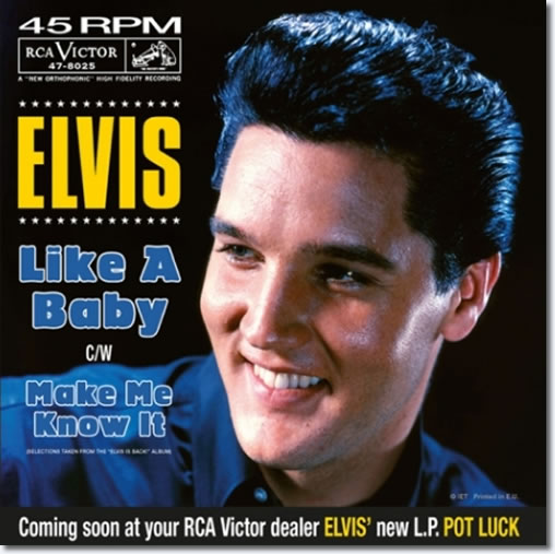 Like A Baby / Make Me Know It : 7 Inch 45 RPM Promo Vinyl Single : The front cover.