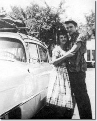 Wanda Jackson and Elvis Presley.