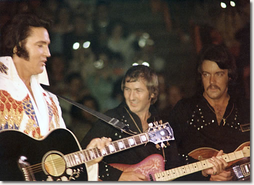 Elvis Presley, James Burton & John Wilkinson : May 11, 1974 : The Forum, Los Angeles, California.