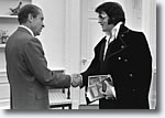 President Richard M. Nixon and Elvis Presley in the Oval Office.