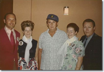Members of 'The King's Court' fan club with Colonel Parker.