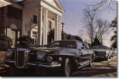 Elvis' 1973 Stutz Blackhawk III parked at Graceland