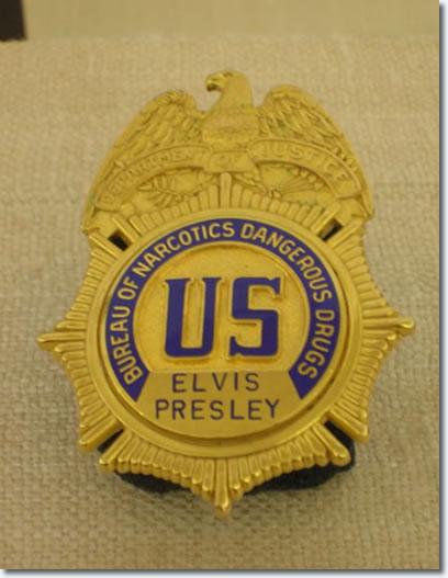 Elvis Presleys Bureau of Narcotic Dangerous Drugs Badge