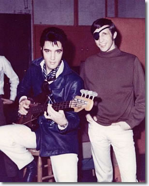 Elvis Presley and Bobby Wood - 1969