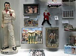 Elvis fans can be a determined bunch, and that's why much of the memorabilia is behind glass.