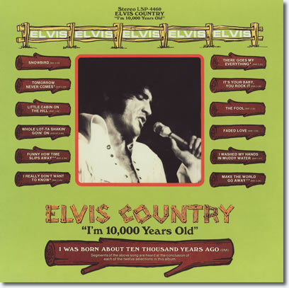 Elvis Country - Original Back Cover Art
