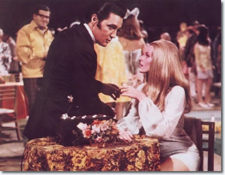 Elvis Presley and Celeste Yarnall in Live a Little, Love a Little.