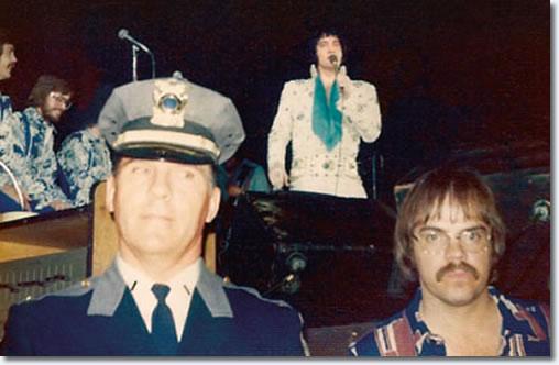 Charles Stone (bottom right corner) during the Elvis concert March 11, 1974 - Hampton, VA