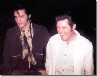 Charlie Hodge and Elvis Presley