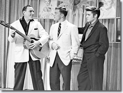 Dewey Phillips, Wink Martindale and Elvis Presley at WHBQ in Memphis - June 16, 1956