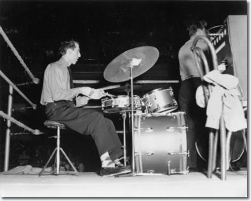 DJ Fontana and Bill Black at Ellis Auditorium - Dec. 19, 1955
