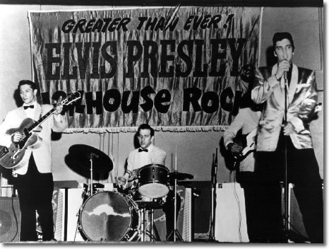 Elvis Presley, Scotty Moore, Bill Black and D.J. Fontana