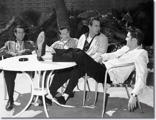 D.J. Fontana, Scotty Moore, Bill Black and Elvis Presley - Las Vegas 1956