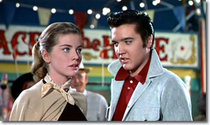 Dolores Hart and Elvis Presley in Loving You