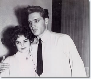 Priscilla Beaulieu and Elvis Presley