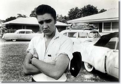 Elvis Presley at Audubon Drive 1956