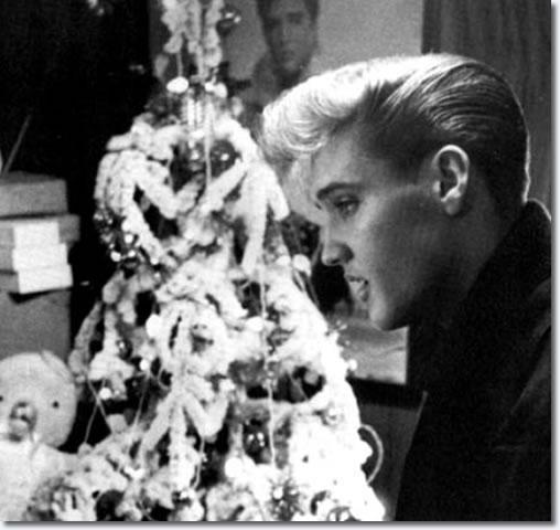 Elvis at Graceland, Christmas 1957.