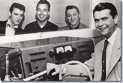 Elvis Presley, Bill Black, Scotty Moore and Sam Phillip's February 3, 1955