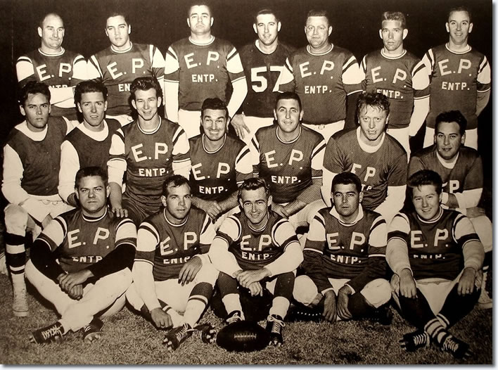 Elvis Presley's Football Team.