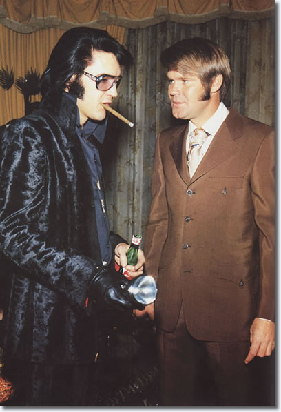 Elvis Presley, Glen Campbell, December 5, 1970 (At George Klein's Wedding)