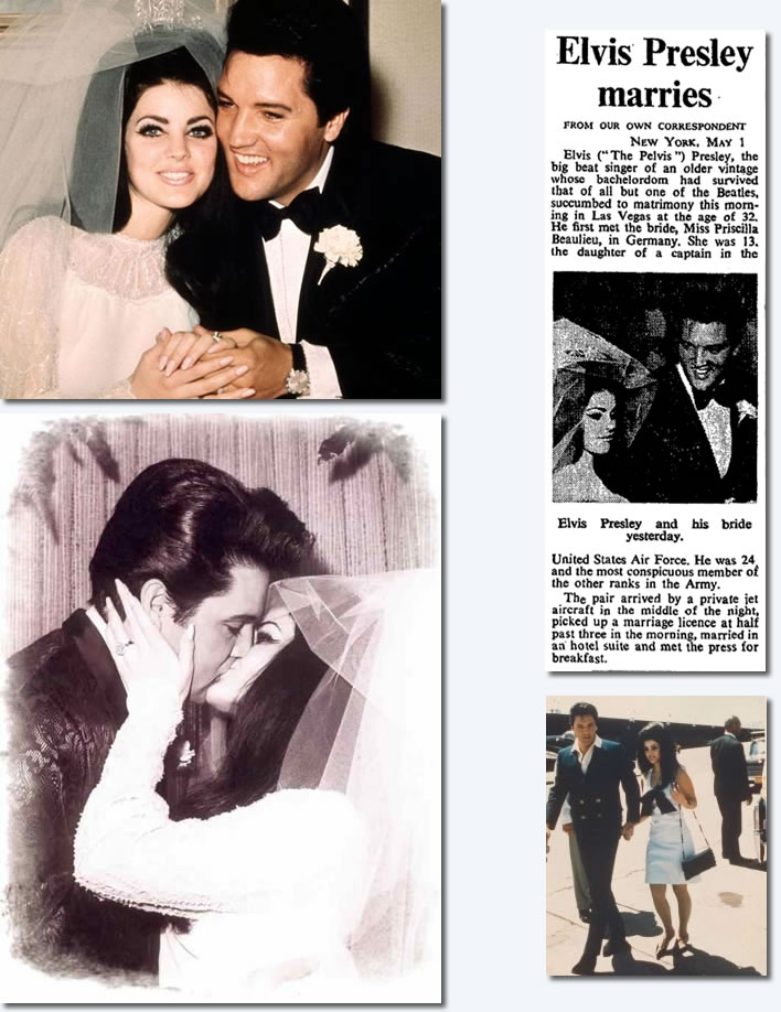 Elvis Presley marries