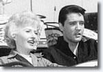 Barbara Stanwyck & Elvis Presley in Roustabout.