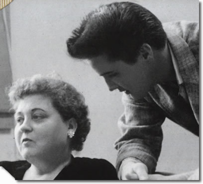 Elvis with his Mother, Gladys