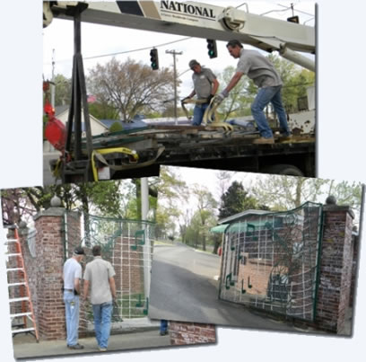 The Graceland Gates: Repaired and installed.