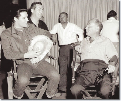 Hal Wallis and Elvis Presley on the set of Roustabout - From the book Inside Roustabout