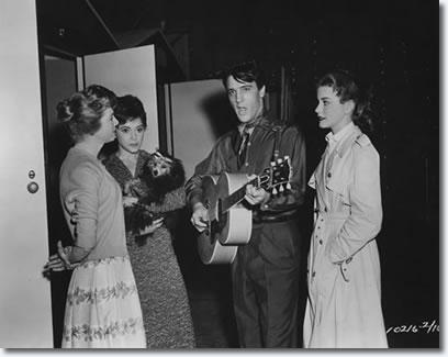 Jan Shepard Liliane Montevecchi, Elvis Presley and Dolores Hart