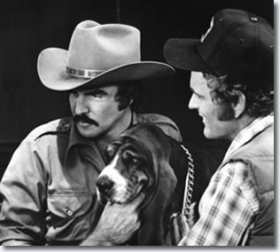 Burt Reynolds and Jerry Reed - on the set of Smokey and the Bandit 1977