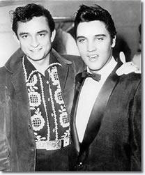 Johnny Cash and Elvis Presley