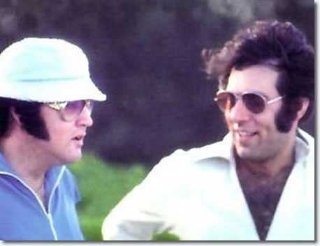 Elvis Presley and Larry Geller, Hawaii, March 1976.