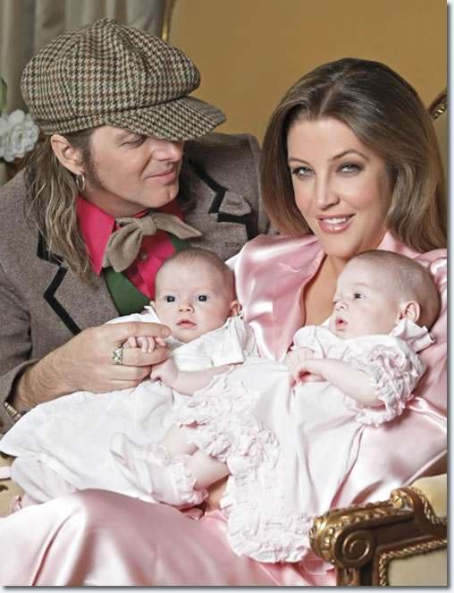 Lisa Marie Presley & Michael Lockwood with twins, Finley and Harper