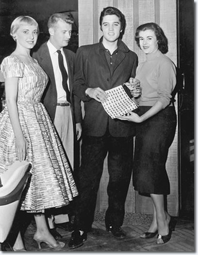 Elvis & girlfriend Marilyn Evans (right next to Elvis) November 19, 1956.
