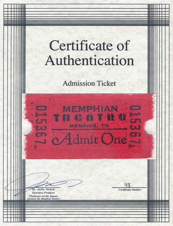Ticket : The Memphian