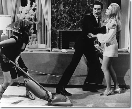 Michele Carey, Elvis Presley and Celeste Yarnall in Live a Little, Love a Little