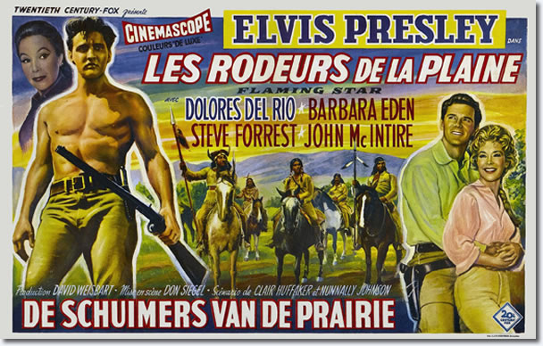 Belgian Flaming Star Movie Poster