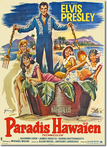 Paradise, Hawaiian Style - French Movie Poster