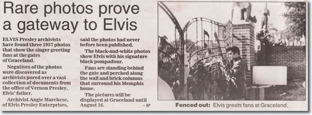 Rare Photos Prove a Gateway to Elvis : Discovered at Graceland