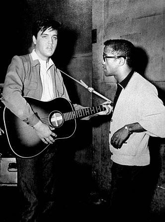 Elvis Presley and Sammy Davis Jr
