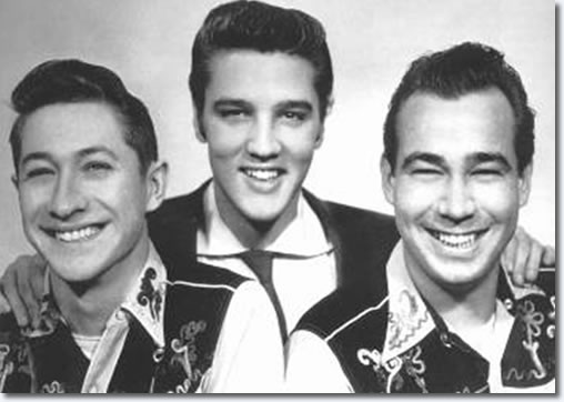 Scotty Moore, Elvis Presley and Bill Black - 1954