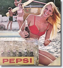 Susan in an advertisment for Pepsi