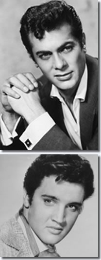 Tony Curtis and Elvis Presley